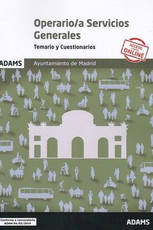 TEMARIO Y CUESTIONARIOS OPERARIO/A SERVICIOS GENERALES AYUNTAMIEN