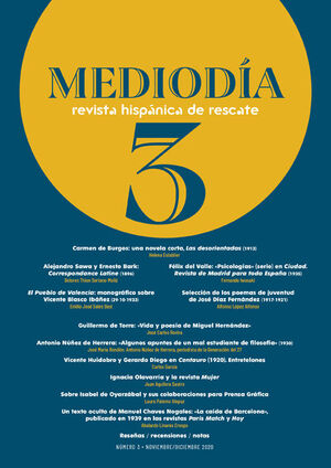 MEDIODÍA. REVISTA HISPÁNICA DE RESCATE. 3