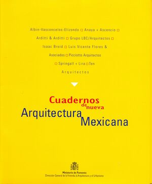 CUADERNOS DE NUEVA ARQUITECTURA  MEXICANA
