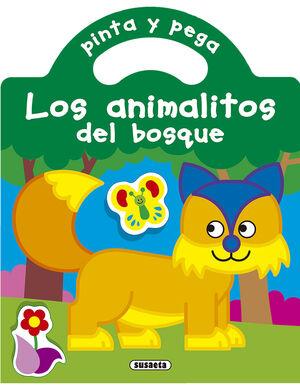 PINTA Y PEGA LOS ANIMALITOS DEL BOSQUE