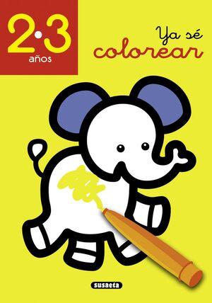YA SÉ COLOREAR 2-3 AÑOS
