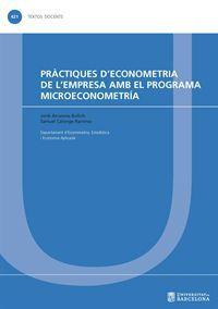 PRÀCTIQUES D'ECONOMETRIA DE L'EMPRESA AMB EL PROGRAMA MICROECONOMETRÍA