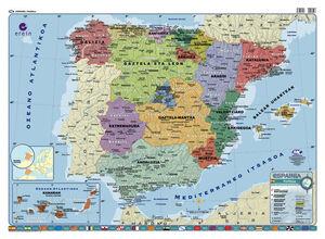 ESPAINIAKO MAPA FISIKO/POLITIKOA